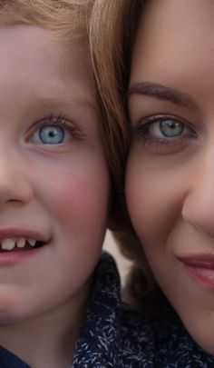Mommy and me close up. I love to focus on the details of the eyes