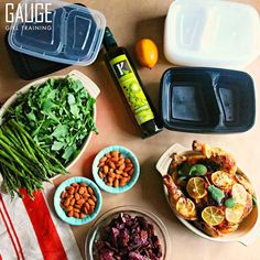 #Repost @gaugegirltraining  #mealprepsunday going down with a mini-meal prep that will take me through Tuesday featuring a whole oven roaster chicken seasoned with fresh sage thyme rosemary parsley lemon sea salt and paprika. Purple potatoes were oven roasted along with chicken to save time. Additional veggies on this menu include asparagus raw almonds arugula (which I can have an unlimited amount of) @kasandrinos olive oil and lemon. Meal prep containers are for sale on…