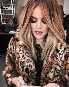 """"""" lucyhale Since im home this year and not dressing up…I'm pretending this is me dressed up as the real housewives of bev hills """""""