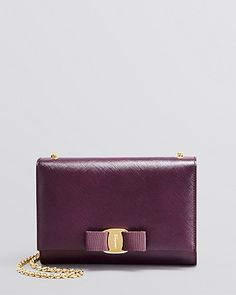 Salvatore Ferragamo Miss Vara Bow Plum Mini Bag; $650.00