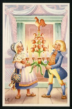 Jaanas Gut o Mixed - Christmas Past, Father Christmas, Elsa Beskow, Elves And Fairies, Old Fashioned Christmas, Vintage Christmas Cards, Vintage Ephemera, Christmas Inspiration, Scandinavian