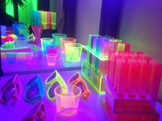 cool neon party supplies for a funky disco party I will definitely be checking these out for my birthday party Neon Birthday, 13th Birthday Parties, Birthday Ideas, 16th Birthday, Invitation Fete, Party Invitations, Glow In Dark Party, Black Light Party Ideas, Blacklight Party