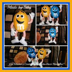 Chocolates M&M's com molde