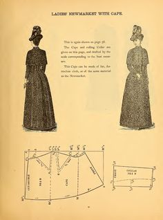 What We Did When The Power Went Out (Sewing In Walden): Ladies' Newmarket with Cape 1888