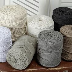Macrame Thread, Macrame Cord, Macrame Supplies, Macrame Projects, Cotton String, Cotton Rope, Cordon Macramé, Wall Hanging Crafts, Rope Crafts