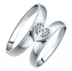 2pcs925 silvers promise rings plate with the by KingdomFashion, $28.50