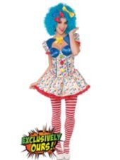 Adult Cotton Candy Clown Costume - Party City