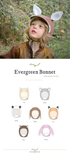 Evergreen Bonnet - pattern from Twig and Tale...sizes newborn to teen!