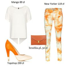 White-orange outfit made by broshka.pl