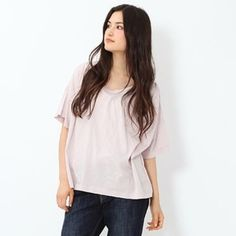 ⬇️Lavender Oversized Tee Oversized lavender tee. One size.  trades Tops Tees - Short Sleeve