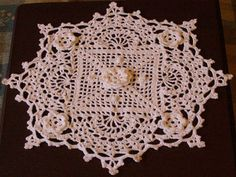 Irish Crochet Doiley. The pattern for this doily came from a pattern book called Irish Beauty Doilies.