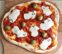 ghosts and spiders pizza