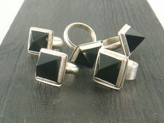 obsidian pyramid rings