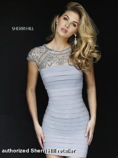 Sherri Hill Fall Homecoming Prom Collection - 32282 fitted bandage body con dress