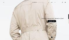 Z A R A /web site. Concept. on Web Design Served