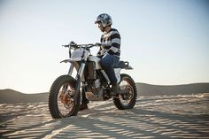 One of the stars of the new On Any Sunday film is this stunning KTM 450 SX-F modified by Roland Sands—a mix of modern performance with vintage good looks.