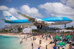 Maho Beach St Martin Caribbean