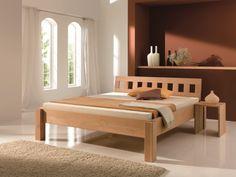 Massivholzbett QUADER - modern wood bed designs
