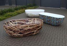 Vinyl wrapped bathtubs made by award winning Belgian designers