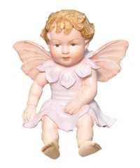 Baby Apple Blossom Fairy_$14.95 She is part of the Cicely Mary Barker Collection and comes with a 6-inch wire stake making her perfect for planting in your faerie garden.