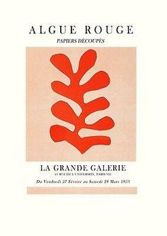 Henri Matisse The Cut Outs art Exhibition Poster Matisse Art Henri Matisse, Matisse Art, Art Nouveau, Art Deco, Vintage Art Prints, Vintage Posters, Fine Art Prints, Jazz Poster, Movie Poster Art