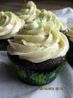 Irish Car Bomb Cupcakes - Seriously the BEST. CUPCAKES. EVER. And I don't like Guinness, Jameson or Bailey's. Recipe from thebrowneyedbaker.  Much like these cupcakes, she's the bomb!