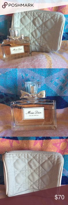 Miss Dior Eau De Parfum and Bag NEW Discover Miss Dior the fragrance inspired by love and romance. Miss Dior is an audacious chypre with a citrusy freshness and a jasmine heart sprinkled with fruity notes and underscored by the elegance of patchouli. A chic and daring classic. Dior Makeup