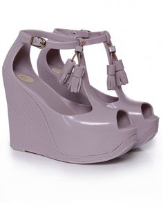 melissa shoes | plain peace platform wedges in lila                                                               (rePinned 091513TLK)