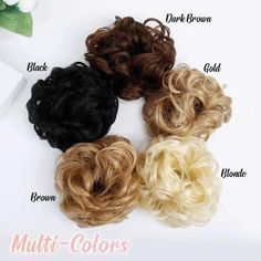 Easy-To-Wear Stylish Hair Scrunchies – chicvoss Wear that Easy-To-Wear Stylish Hair Scrunchies confidently everywhere, knowing it makes that hair looks professionally done, even with thin fine hair! It is ma Gold Blonde, Blonde Color, Hair Color, Rose Bun, Rose Hair, Bad Hair, Hair Day, Professional Updo, Curly Bun