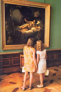 Girls in front of Rembrandt's Danae at the Hermitage in St. Petersburg