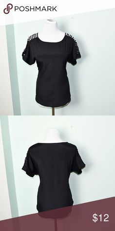 Gorgeous Black Slit Sleeve Flowy Blouse In excellent condition! Super soft, flowy, and comfortable! Buy 3 items and get 1 free plus 15% off your purchase total Tops Blouses