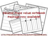 decimal place value noyebook