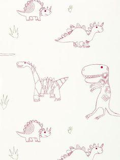 Buy Harlequin Jolly Jurassic Children's Wallpaper | John Lewis