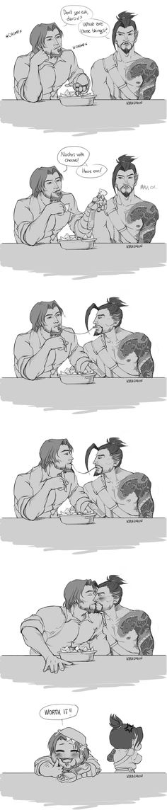 McHanzo - Nachos with cheese by KiraShion