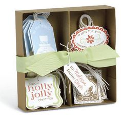 Box for your handmade Stampin' Up! tags