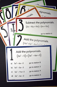 Are your algebra students squirmy? This adding and subtracting polynomials activity is a great way to get high school students out of their seats and working on something other than a worksheet! Simplifying polynomials and polynomial operations can be fun!