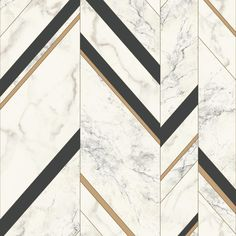 The Manhattan Comfort Groveland Marble Chevron Wallpaper pairs a sophisticated marble pattern with bold chevron stripes for contemporary appeal. Wall Panel Design, Floor Design, Tile Design, Marble Design Floor, Design Design, Marble Wall, Marble Floor, Floor Patterns, Wall Patterns