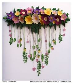 Embroiderers' Guild :: Welcome to the Embroiderers' Guild Crochet Bouquet, Crochet Flowers, Silk Ribbon Embroidery, Hand Embroidery, Felt Skull, Crochet Storage, Knitting Stiches, 3d Fantasy, Needlepoint Designs
