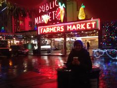Birthday drinks by Pike Place Market, Seattle