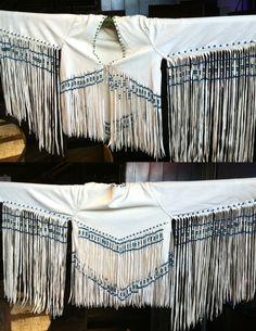 Jimi Hendrix White Leather Fringe Jacket replica