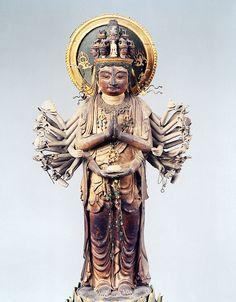 延暦寺 千手観音立像 Guanyin, Buddhist Art, Japanese Culture, Asian Art, Traditional Art, Statue, Artwork, Ropes, Puppet
