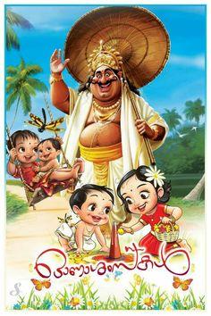 Onam Wishes In Malayalam, Onam Pictures, Happy Onam Images, Happy Onam Wishes, Onam Pookalam Design, Festival Paint, Onam Festival, Birthday Wish For Husband, Indian Illustration