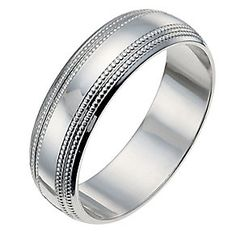 9ct white gold 6mm polished band ring - Product number 9941398