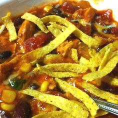 Weight watchers chicken taco chili