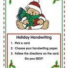 This is a clever little set of Holiday Handwriting cards for your literacy centers. Handwriting cards include original poems: 4 Christmas,  1 Hannu...