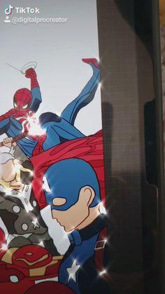 Marvel Films, Marvel Jokes, Disney Marvel, Marvel Avengers, Mini Drawings, Art Drawings, Avengers Vs Justice League, Dc Comics Film, Bae