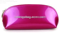 Shiny PVC Ladies Cosmetic Bag,Fashion Design Artificial Leather Cosmetic Pouch…