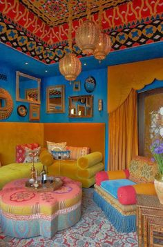 The Best DIY and Decor Place For You: What do you think,So many colours in just one room?