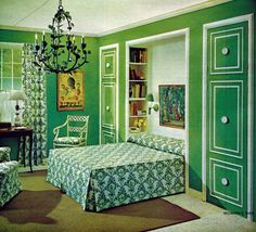 I really like this bed alcove idea. It's from the April 1965 issue of Woman's Day magazine, and it says I can write them for complete building instructions and diagrams for only .50 cents. Do you think they'll write me back?