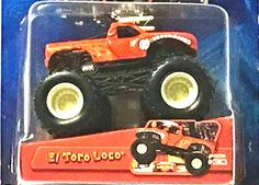Amazon.com: 2005 Hot Wheels 1:64 Scale Monster Jam Monster Truck - #30 El Toro Loco (Red): Toys & Games